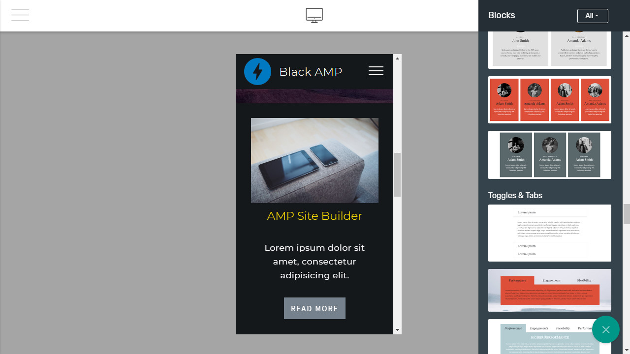 AMP Page Builder